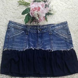 Industrial cotton denim skirt size 13